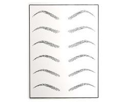 Искусственная кожа для практики татуажа «Брови» (серый) 19,5х14,5 см